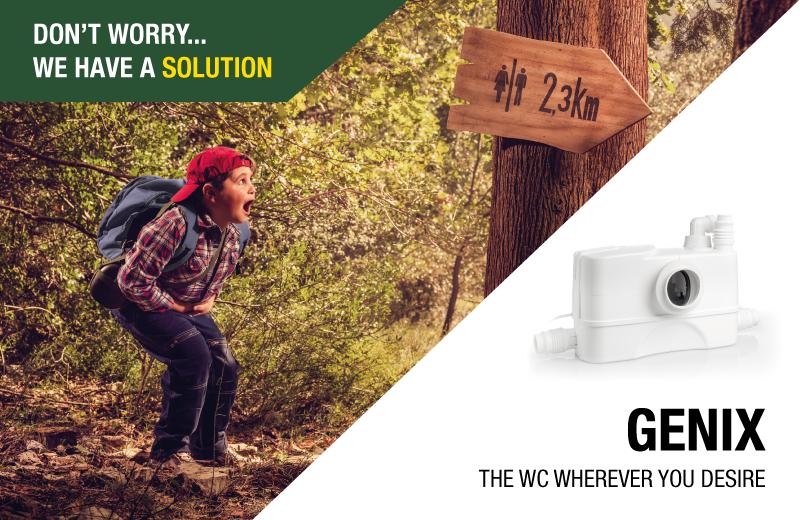 Genix the wc wherever you desire