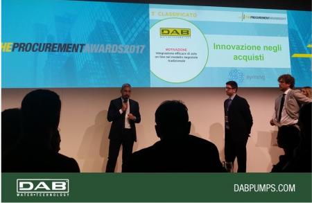 Dab Pumps on the podium of the Procurement Award 2017