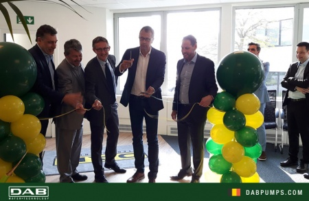 16 May 2018. DAB Pumps Belgium cuts the ribbon for the new premises